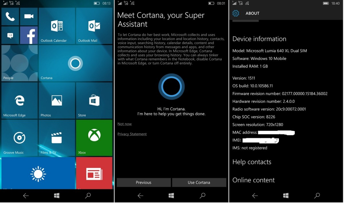 Windows 10 Mobile Build 10586: Review of the RTM Build