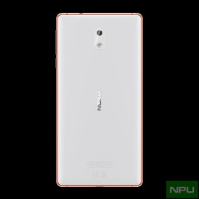 Nokia 3 Copper White back