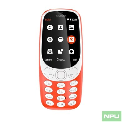 Nokia 3310 Warm Red front