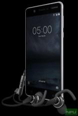 Nokia 5 with Nokia Sport Headset WH-501