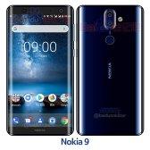 Nokia 9 Polished Blue sketched image leak