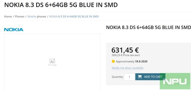 Nokia 8.3 5G 6GB RAM pricing 1 (1)