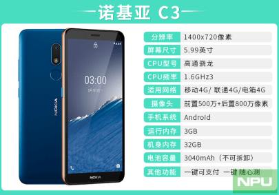Nokia C3 leak China