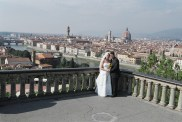 On our honeymoon photo shoot in Florence.