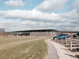 The visitor's center at Stonehenge.