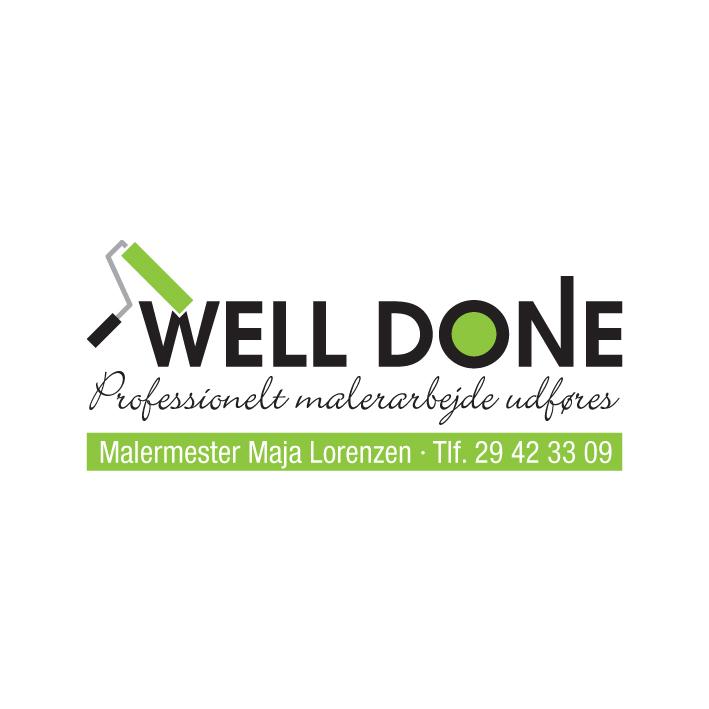 Well Done malermester Maja Lorenzen logo