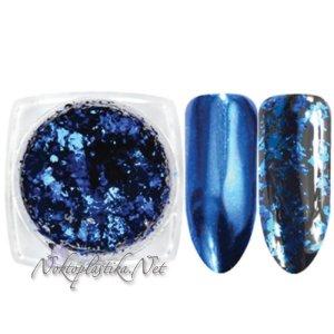 Синьо фолио на люспи за нокти
