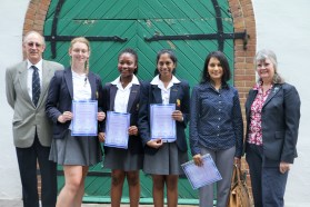 WINNERS: Learners from Hyde Park High School won the Materials Science Poster Competition 2016 at a prize-giving held at Wits University. Photo: Nokuthula Zwane