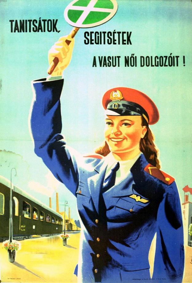 Az ötvenes években a vasút férfi dolgozói már mindent tudtak