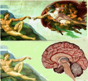 God in the Brain painted by Michelangelo on the Sistine Chapel Ceiling