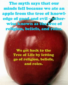 Apple of Tree of Life or Tree of Knowledge of Good and Evil