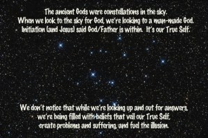 God in the stars