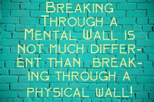 Breaking through the wall