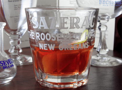 Sazerac Cocktail, courtesy Chuck Taggart's Gumbo Pages.