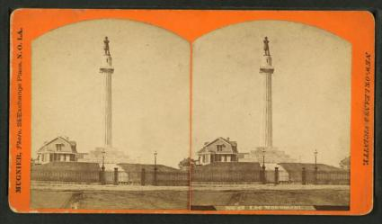 Mugnier Photos stereogram of the Lee Monument, 1880s.