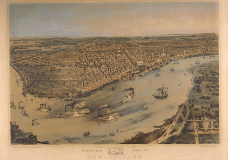Bachman lithograph of New Orleans, 1851