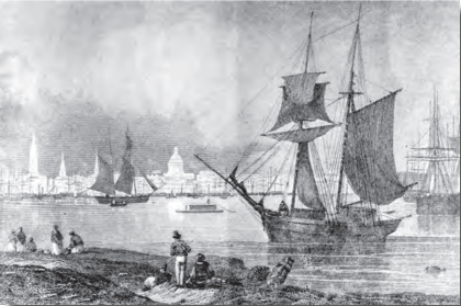 1841 New Orleans black and white