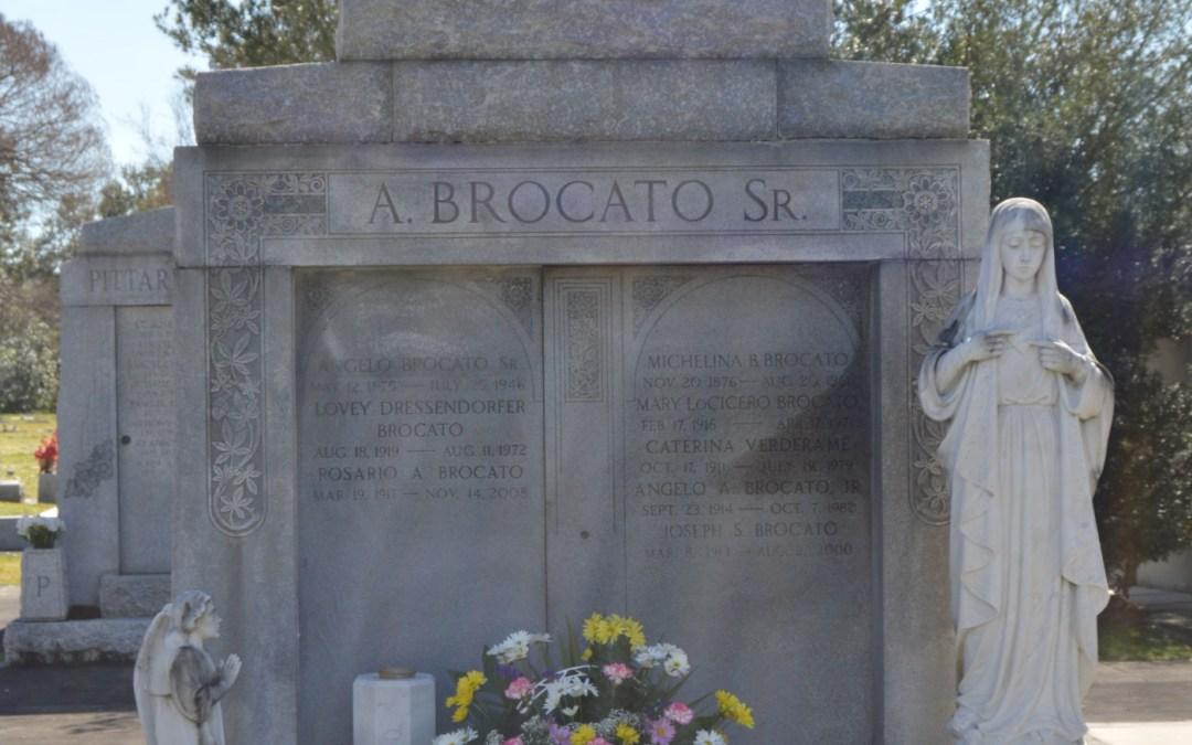 Cemetery Sunday – Angelo Brocato, Sr, Metairie Cemetery