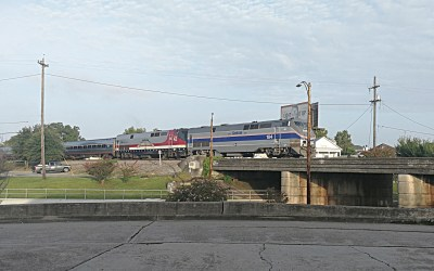 "Amtrak Crescent – ""Anniversary"" Locos haul to Atlanta and NYC"
