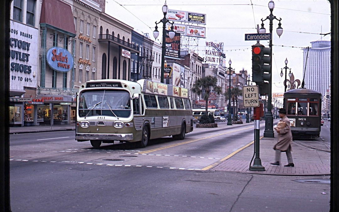 NOPSI Buses and the 900s on Canal Street #StreetcarMonday