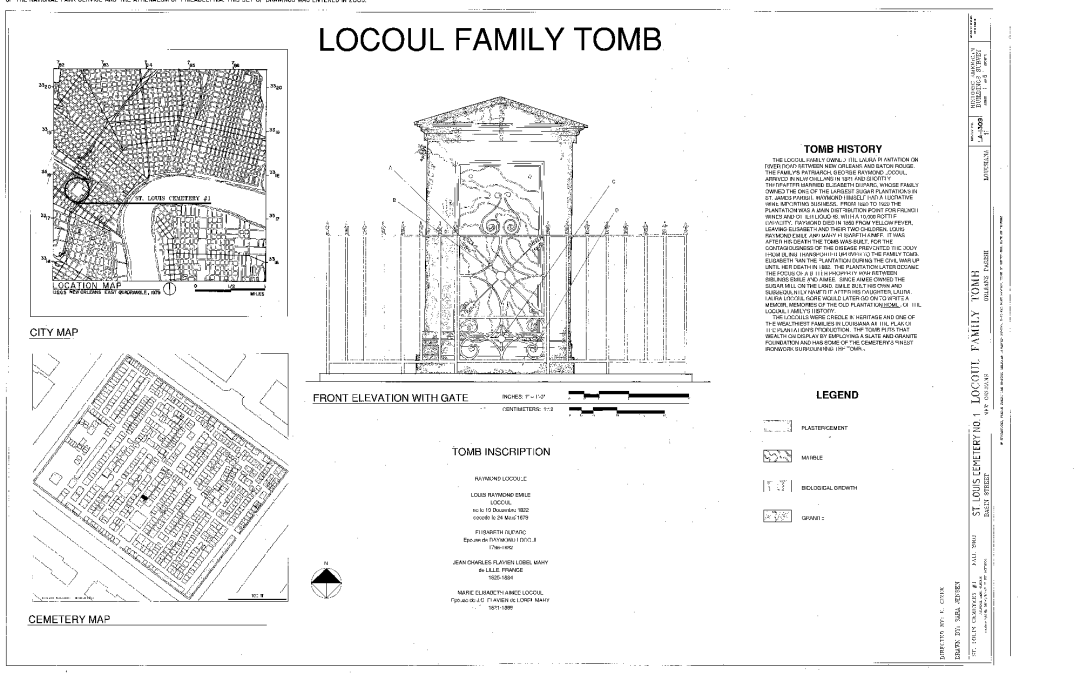 Locoul Family Tomb, New Orleans, Orleans Parish, LA