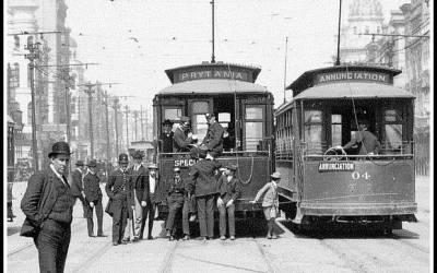Single-truck Streetcars on Canal Street, 1905 #streetcarmonday