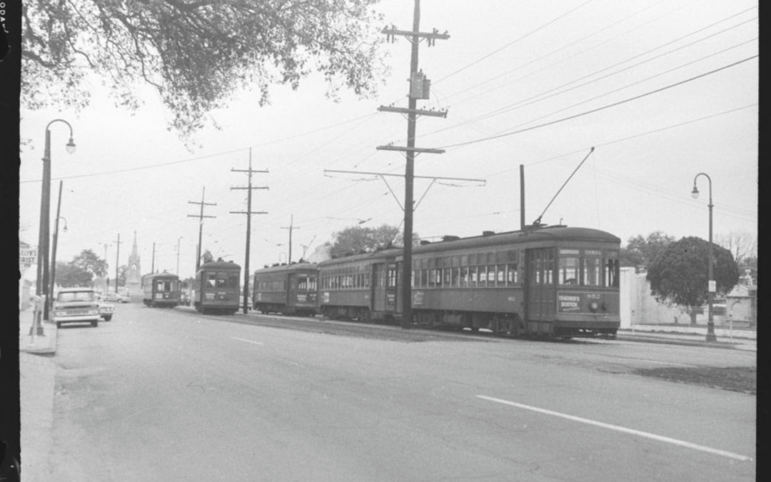 Arch Roof streetcars at the Cemeteries 1963 #StreetcarMonday