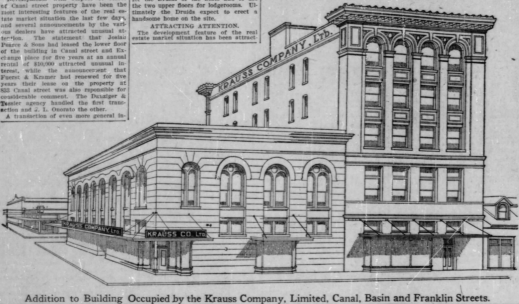 Krauss Department Store 1910