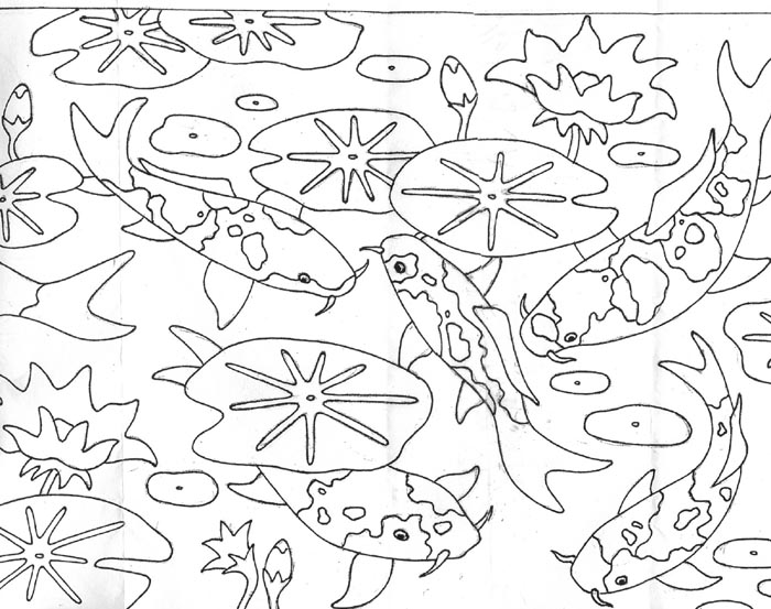 free fish in a pond coloring pages sketch coloring page