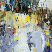 La Mixte | NR5017 |40 Figure: 39.5 x 31.75 in. | Michele Lellouche | Mixed Media | Nolan-Rankin Galleries - Houston