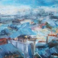 Elisabeth Calmes   Le jeu de toits a Paris   Nolan-Rankin Galleries - Houston