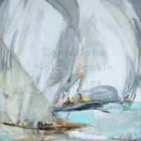 Conchita Conigliano Regates NR4031 60 cm x 60 cm (23.5 in. x 23.5 in.) Oil on Canvas | Nolan-Rankin Galleries - Houston