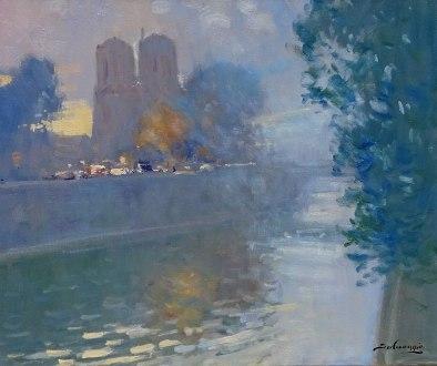 Nolan-Rankin Galleries - Houston   José Salvaggio   Notre Dame dans la brume