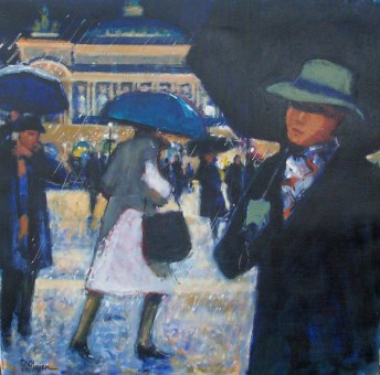 Devant l'opera sous la plue |Pierre Neveu | Nolan-Rankin Galleries - Houston