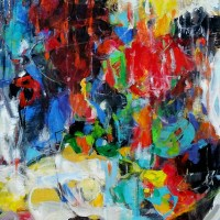 Nuit de la fête | NR5229 | 60 Figure: 51.25 x 38.25 in. | Michèle Lellouche | Nolan-Rankin Galleries - Houston