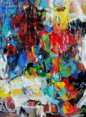 Nuit de la fête   NR5229   60 Figure: 51.25 x 38.25 in.   Michèle Lellouche   Nolan-Rankin Galleries - Houston