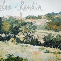 NR5475 Village au dessus des oliviers 30 Figure: 36.25 x 28.75 inches Renée THÉOBALD Nolan-Rankin Galleries - Houston