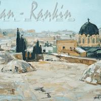 NR5482 Sur les toits de Jerusalem 20 Marine: 28.75 x 19.833 inches Renée THÉOBALD Nolan-Rankin Galleries - Houston