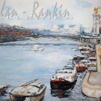 NR5502 Le pont Alexandre III 60 Figure: 51.187 x 38.187 Renée THÉOBALD Nolan-Rankin Galleries - Houston