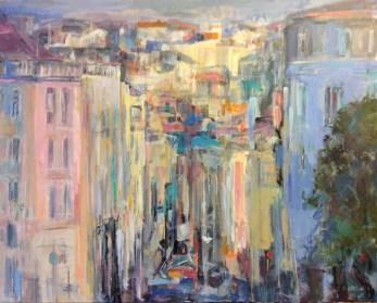 Vue d'en haut   NR5359   30 Figure: 31.25 x 28.75 in.   Michèle Lellouche   Nolan-Rankin Galleries - Houston