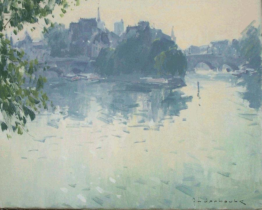 Matin au bord de la Seine   Paul Jean Anderbouhr   Nolan-Rankin Galleries - Houston
