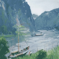 Paul Jean Anderbouhr | Le Rhin au Rocher de la Loreley | Nolan-Rankin Galleries - Houston