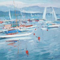 Petit Port a Geneve | Paul Jean Anderbouhr | Nolan-Rankin Galleries - Houston