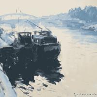 Péniches | Paul Jean Anderbouhr | Nolan-Rankin Galleries - Houston