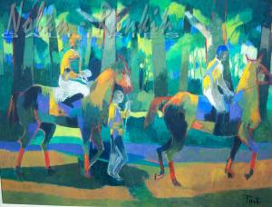 Avant la Course   Pierre Pivet   Nolan-Rankin Galleries - Houston