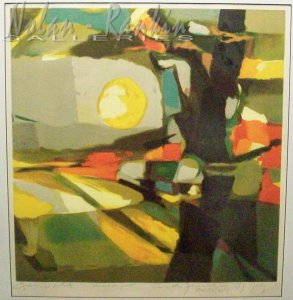Sur le Champs Soleil Noble (1996) | Lithograph - EA | Marcel Mouly | Nolan-Rankin Galleries - Houston