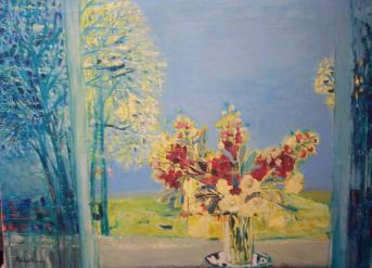 Michel-Henry | oil on canvas (c. 1962) | giroflée
