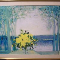 Michel-Henry Oil on Canvas Satuna Plauge - 1968