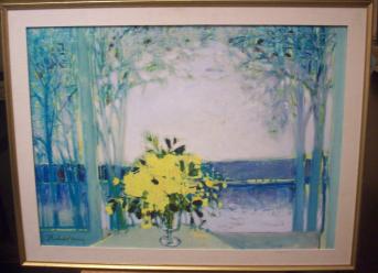 Michel-Henry Oil on Canvas Satuna Plauge - 1968