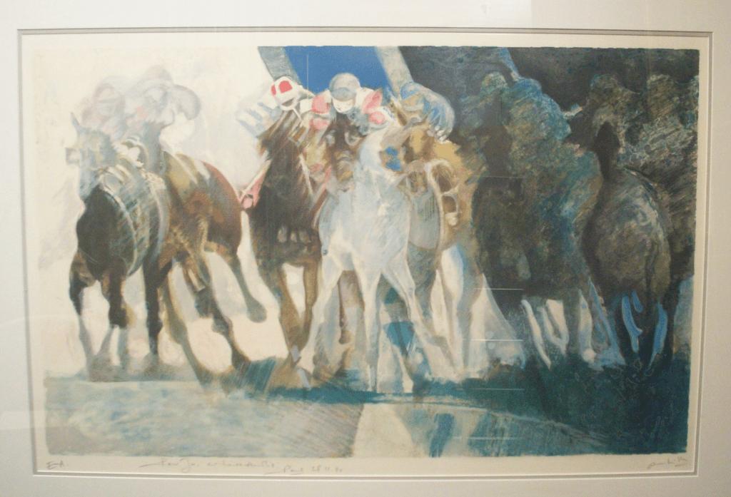 "Paul Ambille lithograph "" Galop"""
